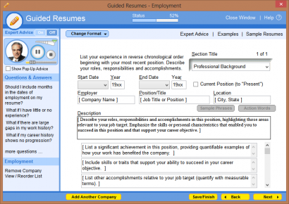 software to write your curriculum vitae